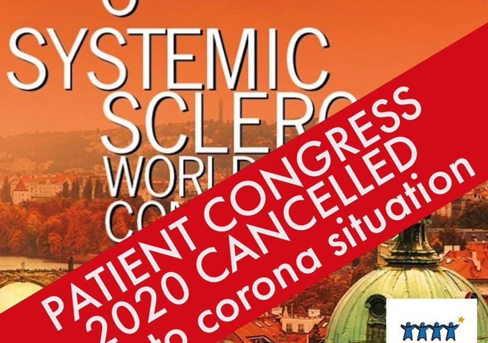 6º Congreso Mundial Esclerosis Sistémica – Cancelado